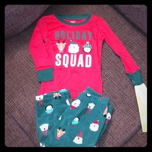 NEW Carter's Holiday Squad Pajama Set 18 Month